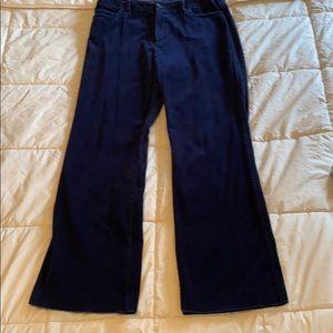 Rafaella size 10 navy cotton spandex blended pants